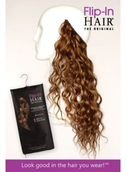 "Flip-In Hair Wider - The Original with a Wider Fitting (14"" Wide) Flip-In Hair"