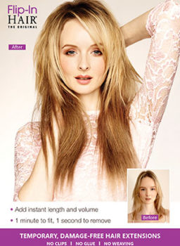 Flip-In Hair - The Original wired hair extension Flip-In Hair