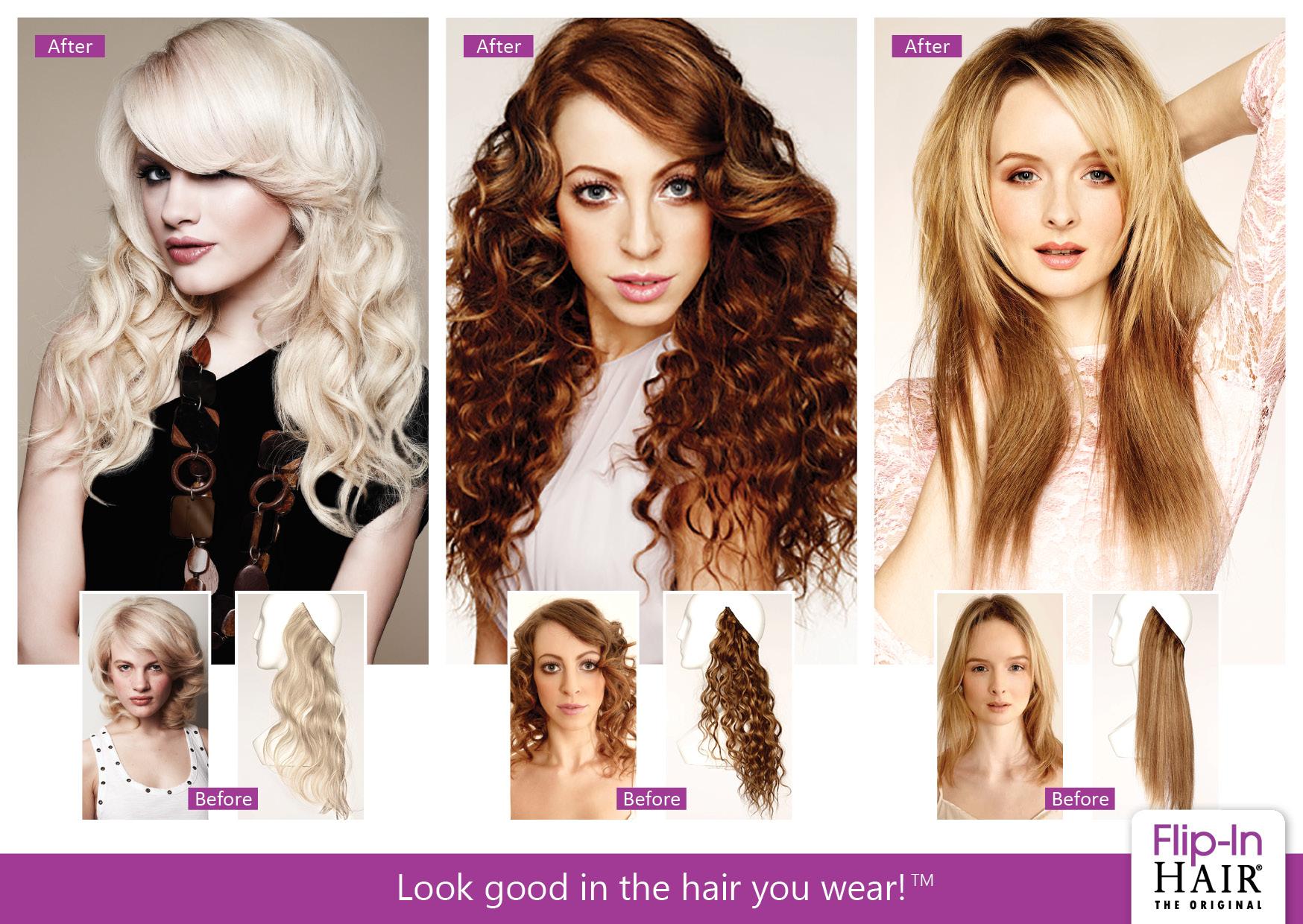 Flip-In Hair Flip-In Hair